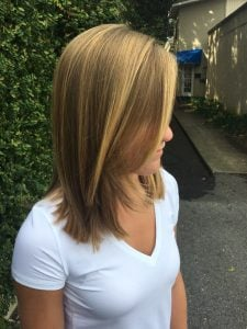 Dark Blonde with Blonde Highlights Women's Hair Style
